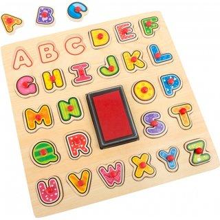 Alphabet Briefmarken Und Stichsäge 30 X 30 X 1 Cm