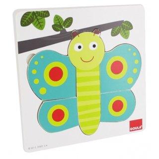 Schmetterling Inlay Puzzle 8 Stück