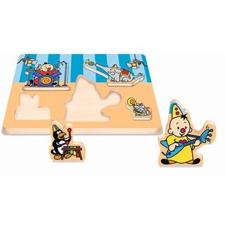 Holzform Puzzle Bumba Musik 5 Stück