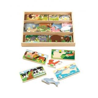 Holzformen Puzzle 16 Tiere