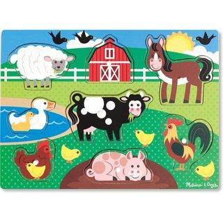 Form Puzzle Bauernhoftiere 8 Stück