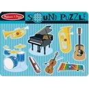 Puzzle Musikinstrumente Holz 30 Cm Grün