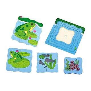 Lagenpuzzle Wachsender Frosch 4-Teilig