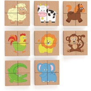 Magnetpuzzle Tiere 32-Teilig