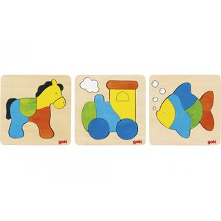 Puzzle-Set 15 Cm Mehrfarbig 3-Teilig