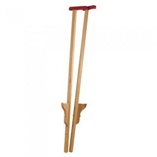 Stelzen 120 Cm Rot/Weißes Holz