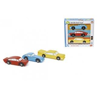 Retro-Spielzeugautos Junior 3-Teilig Blau/Rot/Gelb