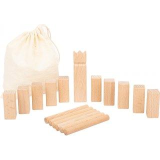 Mini-Kubbwurfspiel Wikinger Spiel Holz 18-Teilig