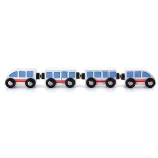 Hochgeschwindigkeitszug 4-Teilig 31 Cm Weiß/Blau