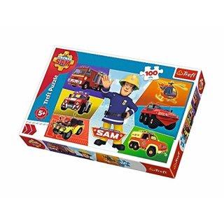 Trefl Puzzle Feuerwehrmann Sam - 100 Teile - Sams Fahrzeug